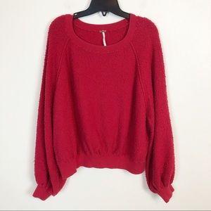 Free People | Balloon Sleeve Textured Sweater